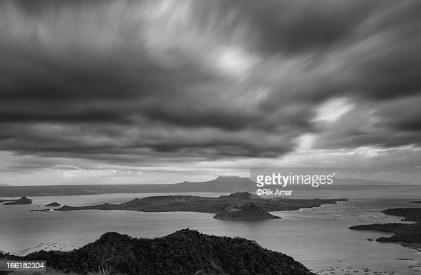 furious skies - taal volcano stock photos and pictures
