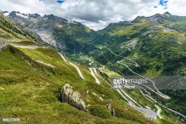 Furka and Grimsel Pass Road, Swiss Alps, Switzerland, Europe