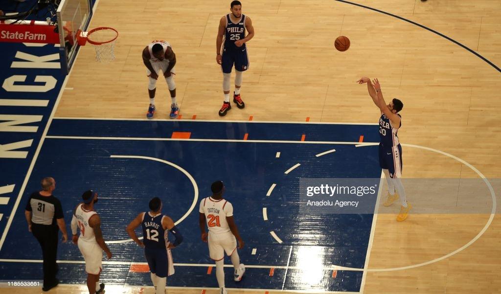 NBA: NY Knicks vs Philadelphia 76ers : News Photo