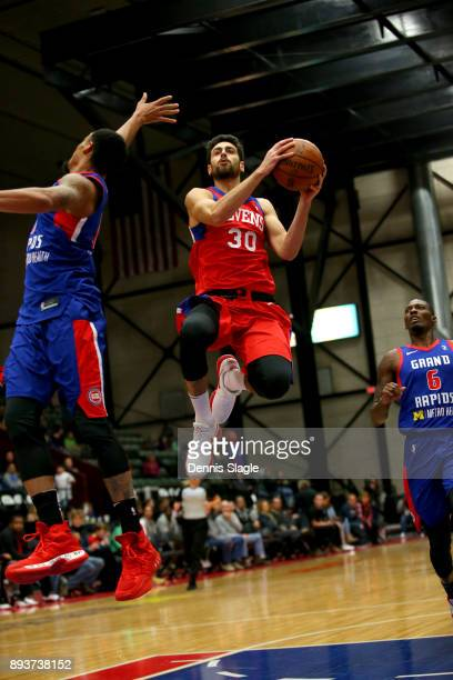 Furkan Korkmaz of the Delaware 87ers takes a shot against the Grand Rapids Drive at The DeltaPlex Arena for the NBA GLeague on DECEMBER 15 2017 in...