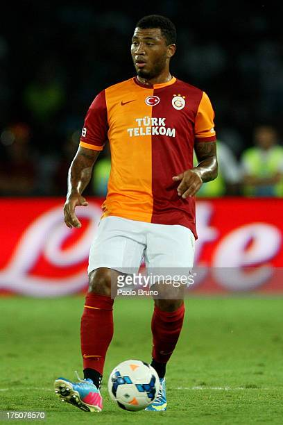 Furkan Ozcal of Galatasaray in action during the preseason friendly match between SSC Napoli and Galatasaray at Stadio San Paolo on July 29 2013 in...