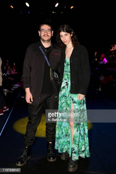 Furkan Temir and Oyku Bastas attend the Exquise show during MercedesBenz Fashion Week Istanbul March 2019 at Zorlu Center on March 22 2019 in...