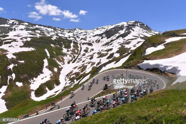 Furkapass / Peloton / Mountains / Snow / Landscape / during the 82nd Tour of Switzerland 2018 / Stage 6 a 186km from Fiesch to Gommiswald 598m on...