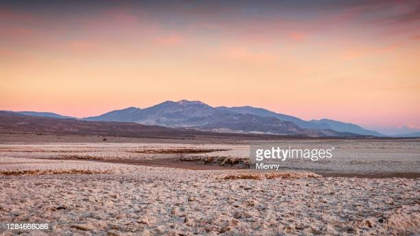 furnace creek death valley national park sunset panorama usa - great basin stock pictures, royalty-free photos & images