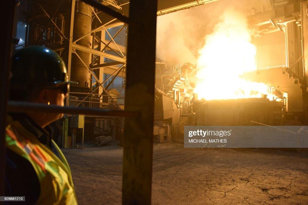 TOPSHOT - A furnace heats steel at the TMK Ipsco Koppel