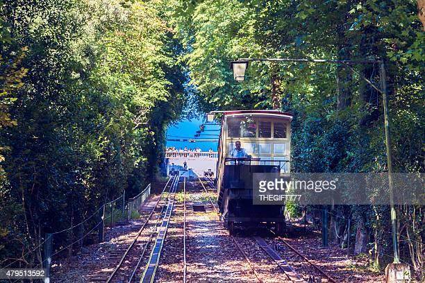 Furnicular lift carriage at Bom Jesus descending