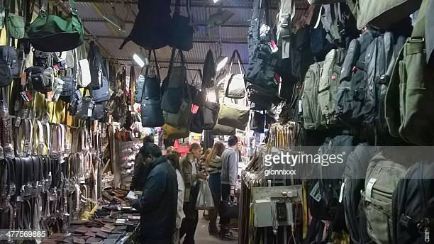 furnished stall in temple street night market, hong kong - market stall stock pictures, royalty-free photos & images