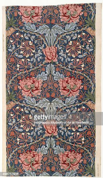 Furnishing fabric 'Honeysuckle' by British artist William Morris 1876 Gift of Miss Charity Dye