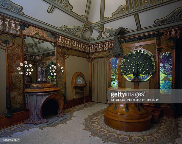 Furnishings of Fouquet jewelery store on Rue Royale in Paris design by Alphonse Mucha France Paris Hôtel Carnavalet