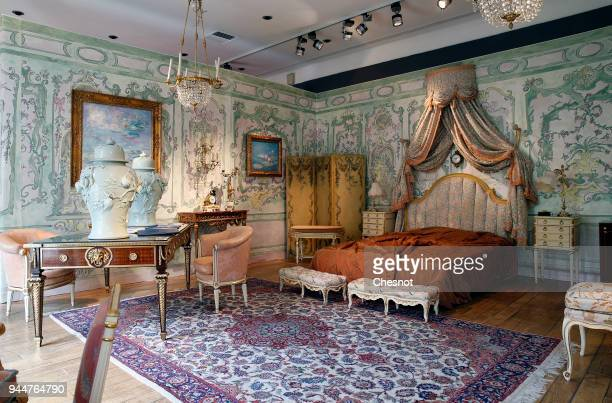 Furniture and objects of the Fitzgerald Suite from the famous Ritz hotel are displayed at the Artcurial Auction House on April 11, 2018 in Paris,...