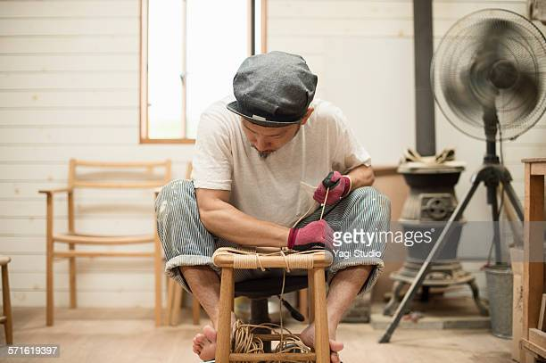 Furniture craftsman making a furniture