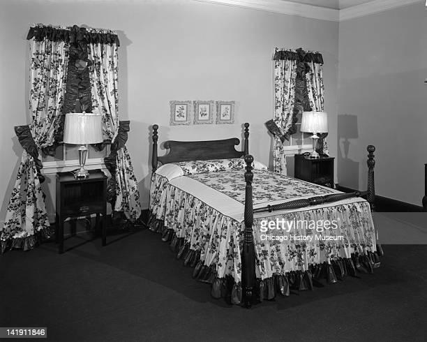 Furniture Display at Marshall Field & Company, Bedroom set ...