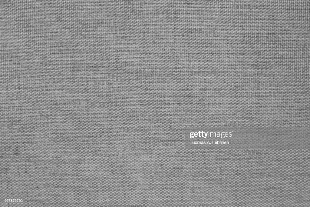 Furniture fabric texture, abstract background in black and white : Stock Photo