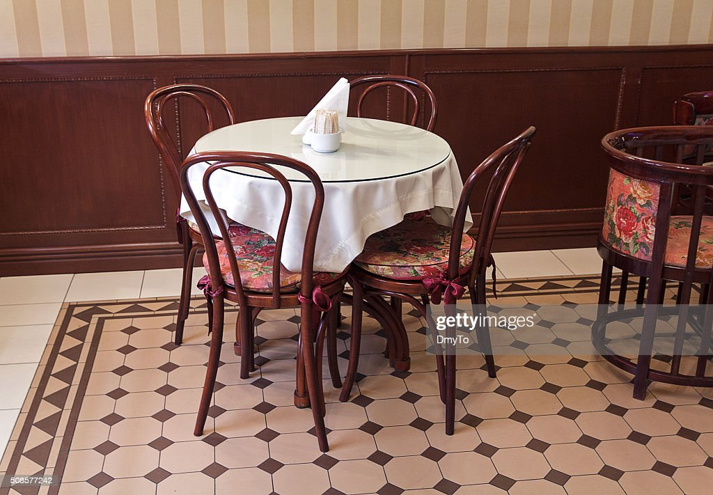 Furniture for a cafe in a retro style. Interior : Stock Photo