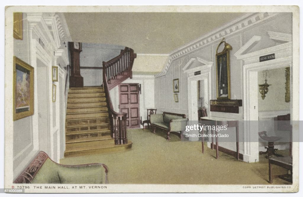 Furniture Of Main Hall At Mount Vernon, Fairfax County, Virginia, USA, 1914