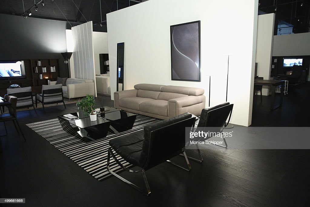 Furniture On Display At Natuzzi Art Miami Opening On December 2