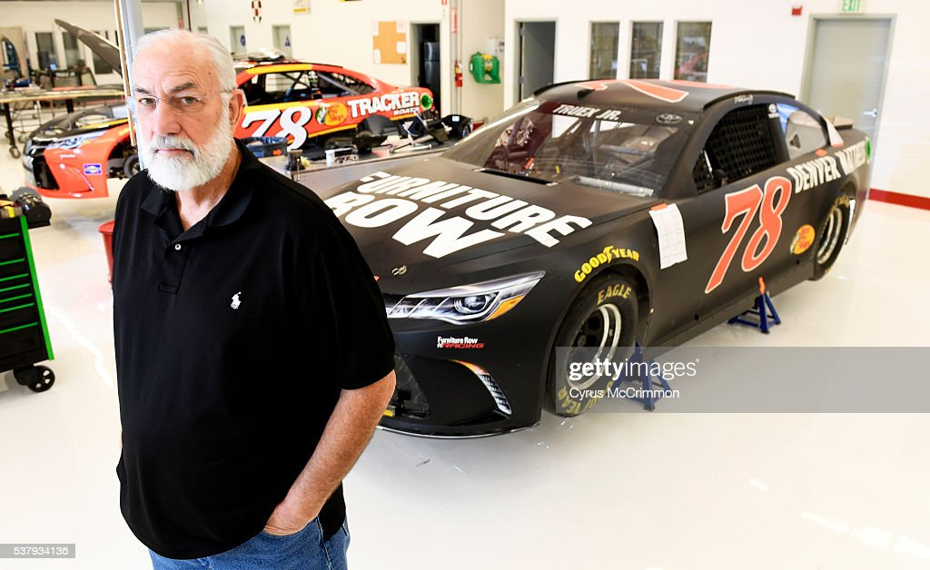 Furniture Row Racing owner Barney Visser was at it's Denver garage on Wednesday, June 1, 2016 where they have cars for short track, intermediate and super speedway tracks. The team is coming off a win at the Coca Cola 600 in Charlotte. The car at right is for intermediate tracks and the car in the background is for super speedways.