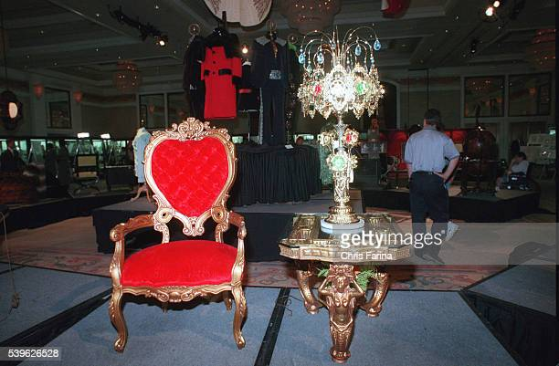 Furniture selected by the King and Linda Thompson for their Graceland lounge in 1974.