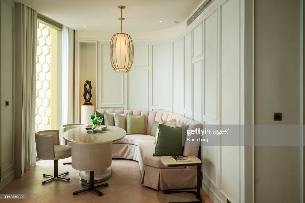 Furniture stands inside a three-bedroom apartment at the ...