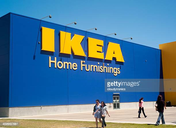 ikea furniture store sign - ikea stock pictures, royalty-free photos & images