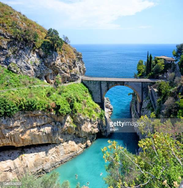 イタリア、アマルフィ海岸のフローレ フィヨルド