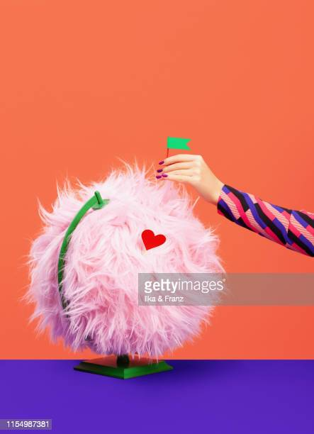 furry globe - fluffy stock pictures, royalty-free photos & images