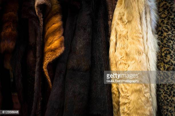 Furs at a market
