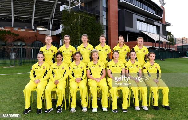 Fury Team Photo before the WNCL match between South Australia and Western Australia at Adelaide Oval No2 on October 6 2017 in Adelaide Australia