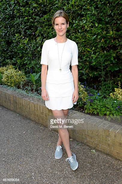 Fuschia Sumner attends the Club Monaco Garden Party hosted by Quentin Jones Clara Paget and Annie Morris in Eaton Square on July 3 2014 in London...