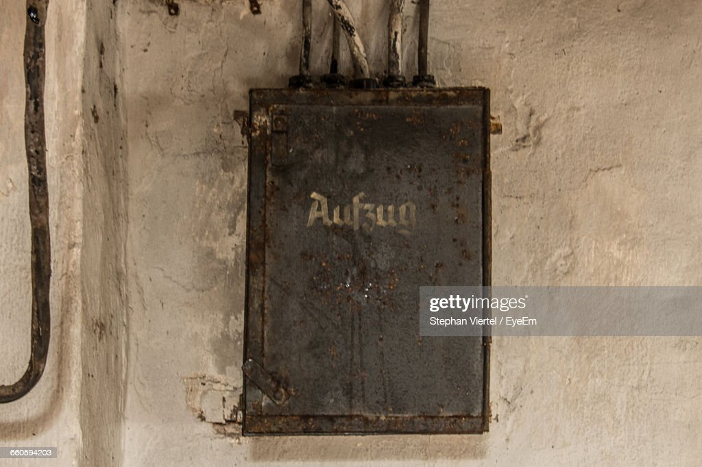 fuse box on wall in factory stock photo getty images rh gettyimages com fuse box halloween fuse box wall cover