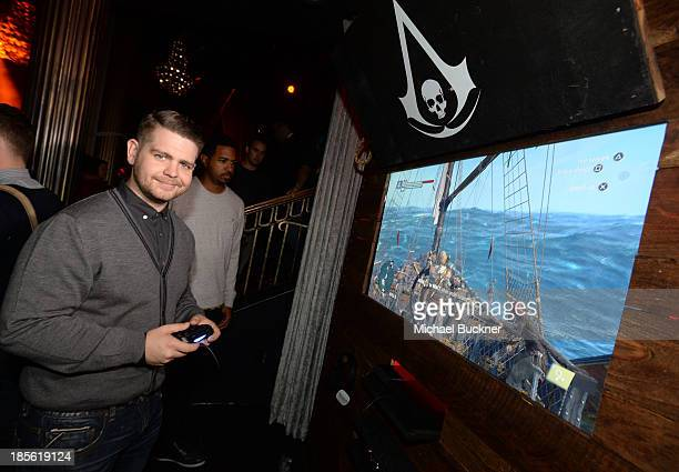 Fuse News correspondent Jack Osbourne playing the Sony Playstation 4 at the Assasin's Creed IV Black Flag Launch Party at Greystone Manor Supperclub...