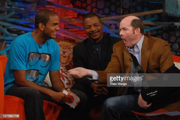 fuse VJ Jared with Carl Weathers and David Koechener at fuse's 'The Sauce' in New York City on October11 2007