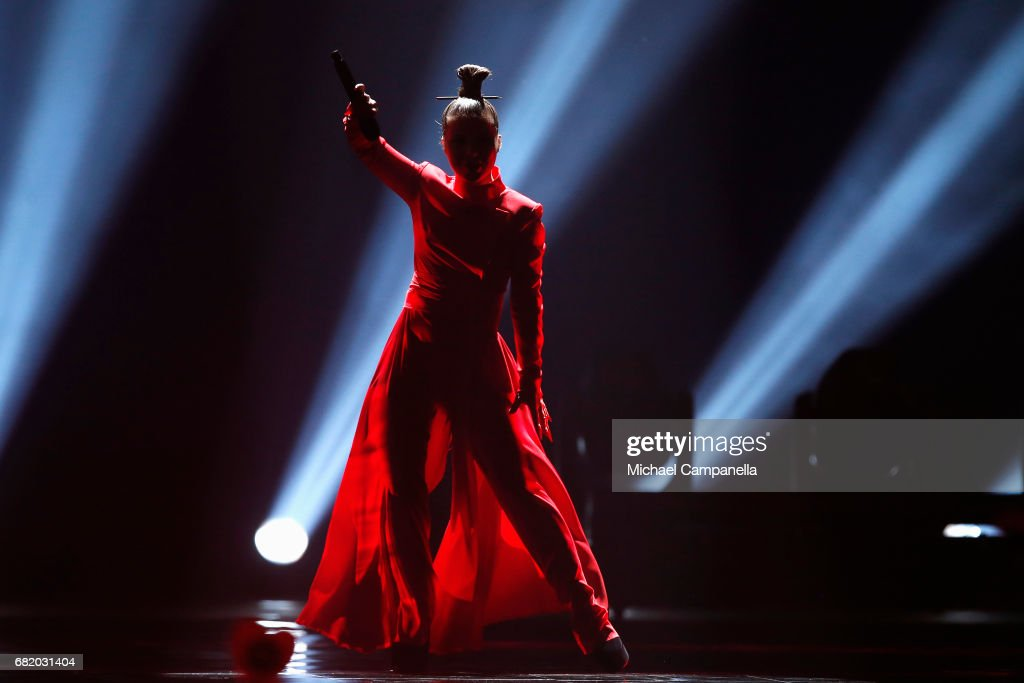 Fusedmarc representing Lithuania performs the song 'Rain of Revolution' during the second semi final of the 62nd Eurovision Song Contest at International Exhibition Centre (IEC) on May 11, 2017 in Kiev, Ukraine. The final of this years Eurovision Song Contest will be aired on May 13, 2017.