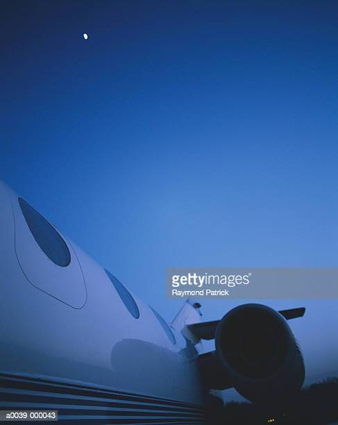 Fuselage and Engine of Learjet