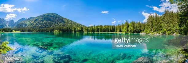 fusine lakes (tarvisio, friuli-venezia giulia, italy) - reflection lake stock pictures, royalty-free photos & images