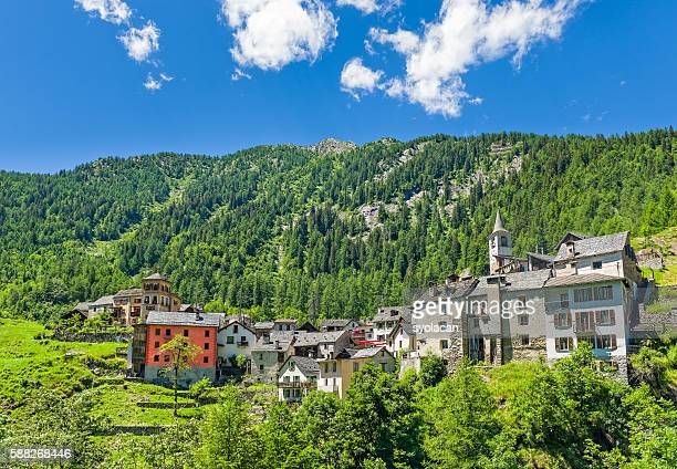 fusio village, switzerland - syolacan stock pictures, royalty-free photos & images