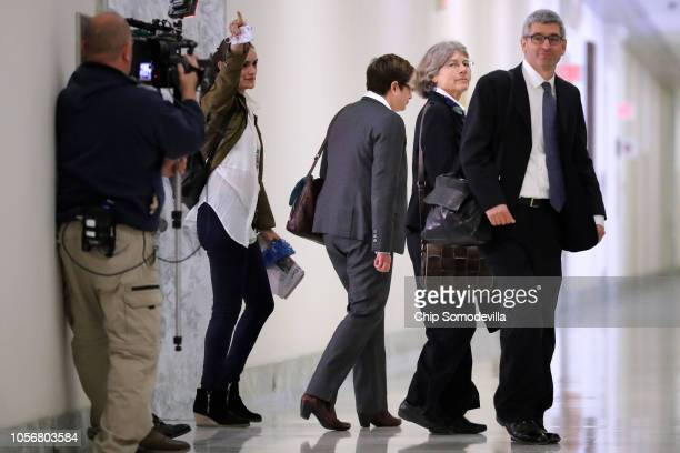 Fusion GPS contractor Nellie Ohr arrives for a closeddoor interview with investigators from the House Judiciary and Oversight committees in the...