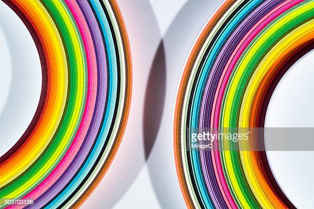 Fusion of Colorful Paper with Shadow