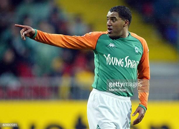 Fussball: 1. Bundesliga 03/04, Bremen; SV Werder Bremen - Hertha BSC Berlin 4-0; AILTON / BREMEN 31.01.04.