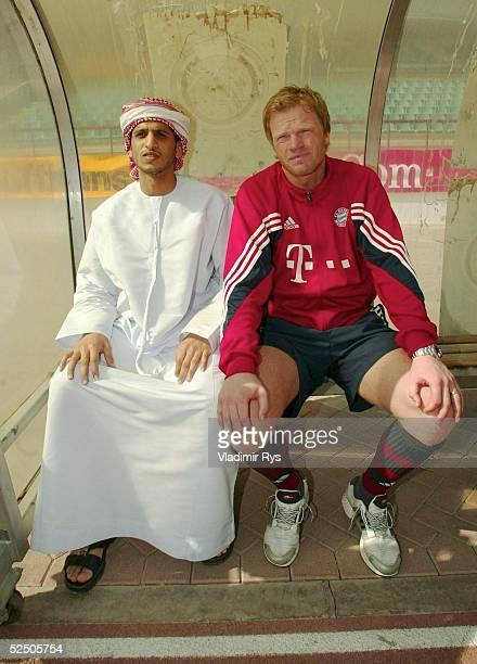 Fussball 1 Bundesliga 03/04 Dubai FC Bayern Muenchen / Trainingslager Torwart Oliver KAHN / Bayern 120104