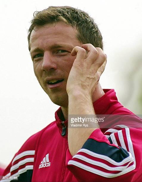 Fussball 1 Bundesliga 03/04 Dubai FC Bayern Muenchen / Trainingslager Thomas LINKE 140104