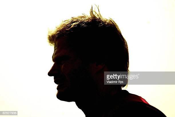 Fussball 1 Bundesliga 03/04 Dubai FC Bayern Muenchen / Trainingslager Feature Torwart Oliver KAHN / Bayern 120104