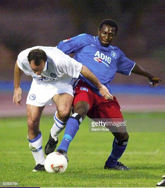 Fussball: 1. Bundesliga 03/04, Gran Canaria; Fussball-Turnier im Trainingslager; Hamburger SV - Hertha BSC Berlin; Dick VAN BURIK / Hertha, Collin...