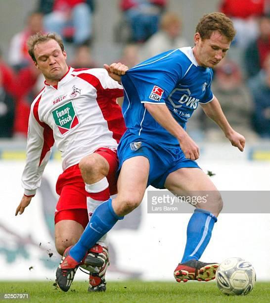 Fussball 1 Bundesliga 03/04 Koeln 1 FC Koeln VfL Bochum Alexander VOIGT / Koeln Paul FREIER / Bochum 180404