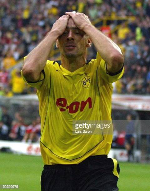 Fussball 1 Bundesliga 04/05 Dortmund Borussia Dortmund Hannover 96 11 Jan KOLLER / BVB enttaeuscht nachdem er eine grosse Chance vergeben hat 290804