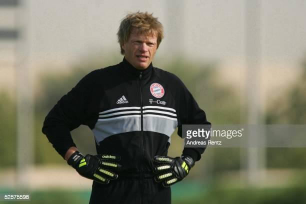 Fussball 1 Bundesliga 04/05 Dubai FC Bayern Muenchen / Trainingslager Oliver KAHN 100105