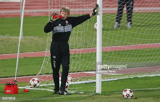 Fussball 1 Bundesliga 04/05 Dubai FC Bayern Muenchen / Trainingslager Torwart Oliver KAHN 110105
