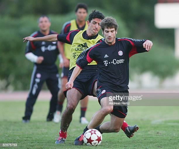 Fussball 1 Bundesliga 04/05 Dubai FC Bayern Muenchen / Trainingslager Roy MAKAAY Torsten FRINGS 130105
