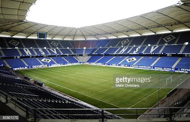 Fussball 1 Bundesliga 04/05 Hamburg Hamburger SV Blick aus der VIP Lounge des HSV in der AOLArena bei leerem Stadion 201104