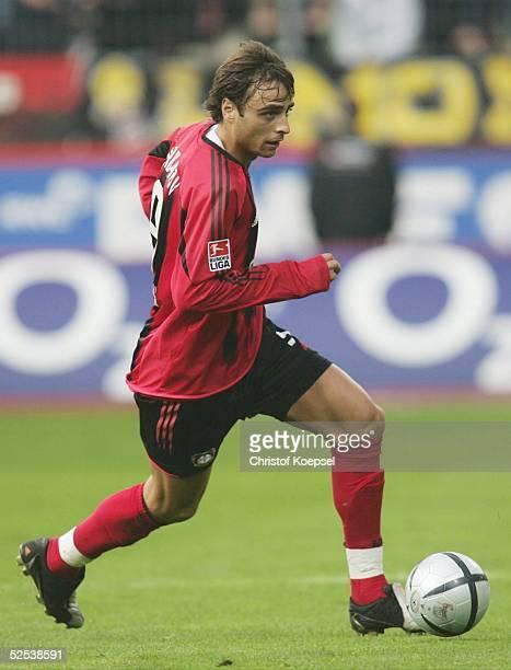 Fussball: 1. Bundesliga 04/05, Leverkusen; Bayer 04 Leverkusen - Hamburger SV 3:0; Dimitar BERBATOV / Bayer 02.10.04.